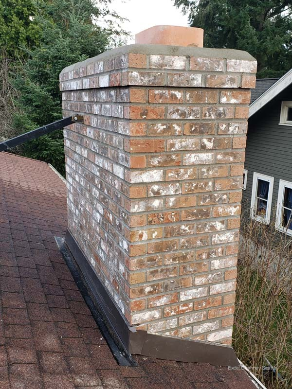 Repointed and Braced Chimney